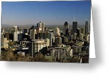 Aerial View Of Skyscrapers In A City Greeting Card