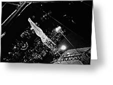 Aerialist Catwalk Circus Aberdeen South Dakota 1965 Greeting Card