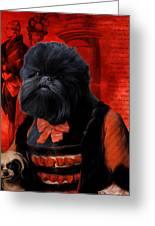 Affenpinscher Art By Nobility Dogs Greeting Card