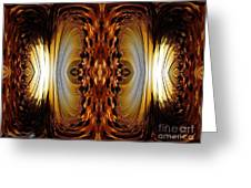 African Moon Abstract Greeting Card