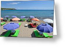 Agia Marina Beach Greeting Card
