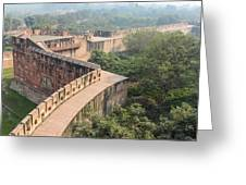 Agra Fort Tourist Destination In India Greeting Card