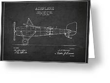 Airplane Patent Drawing From 1918 Greeting Card