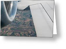 Airplane Wing And Turbine Greeting Card