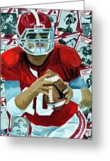 Alabama Quarter Back #10 Greeting Card by Michael Lee