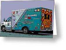 Alameda County Medical Support Vehicle Greeting Card