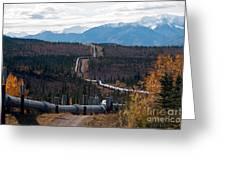Alaska Oil Pipeline Greeting Card