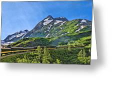 Alaska Railroad To Denali Greeting Card