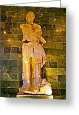 Alexander The Great In Antalya Archeological Museum-turkey Greeting Card
