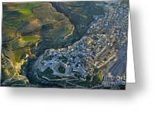 Alhama De Granada From The Air Greeting Card