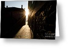 Alley In Backlight Greeting Card