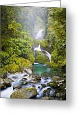 Amazing Waterfall Greeting Card