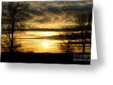 Amber Skys Nine Greeting Card