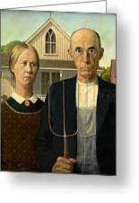 American Gothic Greeting Card