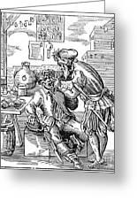 Amman: Dentist, 1568 Greeting Card