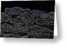 An Abstract View Of An Irish Dry Stone Wall Greeting Card