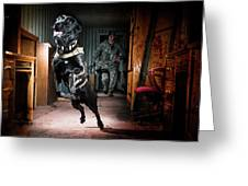 An Air Force Security Forces K-9 Greeting Card
