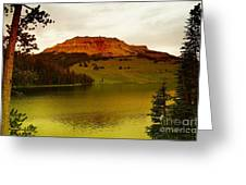 An Alpine Lake Greeting Card