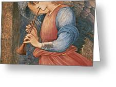 An Angel Playing A Flageolet Greeting Card