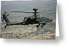 An Apache Ah64d Helicopter Greeting Card