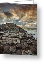 An Evening View Of The Giants Causeway Greeting Card