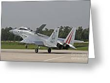 An F-15b Baz Of The Israeli Air Force Greeting Card