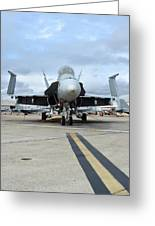 An Fa-18d Hornet On The Ramp At Marine Greeting Card