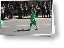 An Irish Lassie Marching In The 2009 St. Patrick Day Parade Greeting Card