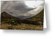 Andean Hills Greeting Card by Tyler Lucas
