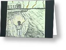 Angel In A Storm Greeting Card