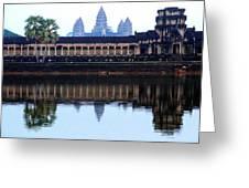 Angkor Wat Reflection Greeting Card