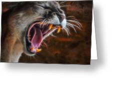Angry Cougar 1 Greeting Card