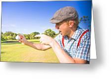 Angry Golf Greeting Card