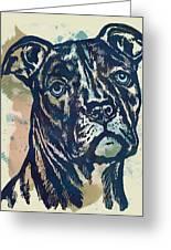 Animal Pop Art Etching Poster - Dog - 4 Greeting Card