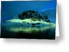 Antarctic Fiord Greeting Card