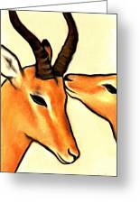 Antelope Kiss Greeting Card