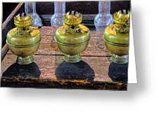 Antique Kerosene Lamps Greeting Card