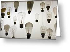 Antique Light Bulbs Greeting Card