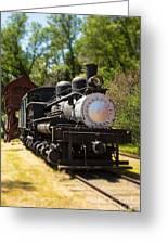 Antique Locomotive Greeting Card