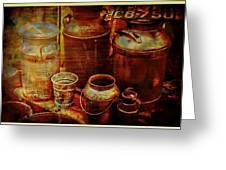 Antique Milk Cans Greeting Card