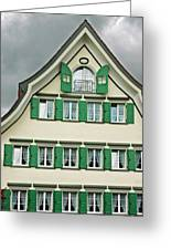 Appenzell Switzerland's Famous Windows Greeting Card