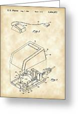 Apple Mouse Patent 1984 - Vintage Greeting Card