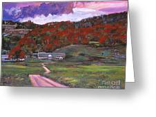 Approaching Storm Greeting Card by David Lloyd Glover