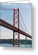 April Bridge In Lisbon Greeting Card