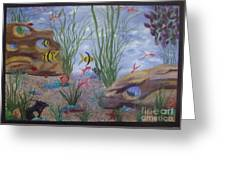 Aquarium Greeting Card by Debra Piro
