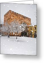 Arc Of Elvira While A Snowstorm Greeting Card