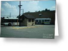 Archer/neva Cta Bus Terminal Greeting Card
