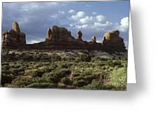Arches National Park Sunrise Rock Formations  Greeting Card