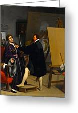 Aretino In The Studio Of Tintoretto Greeting Card