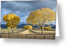 Arizona Horse Ranch Greeting Card